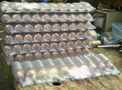 Photos - Many armatures wrapped up for shipping